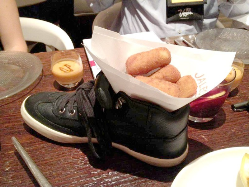 croquettes in a shoe