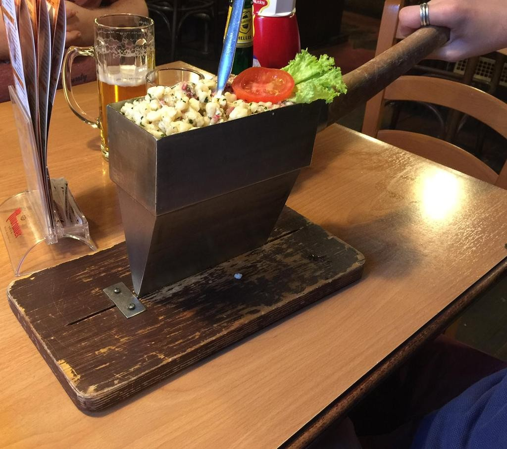 pasta in an axe