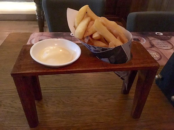 Tiny Table huge chips or tiny table? - we want plates