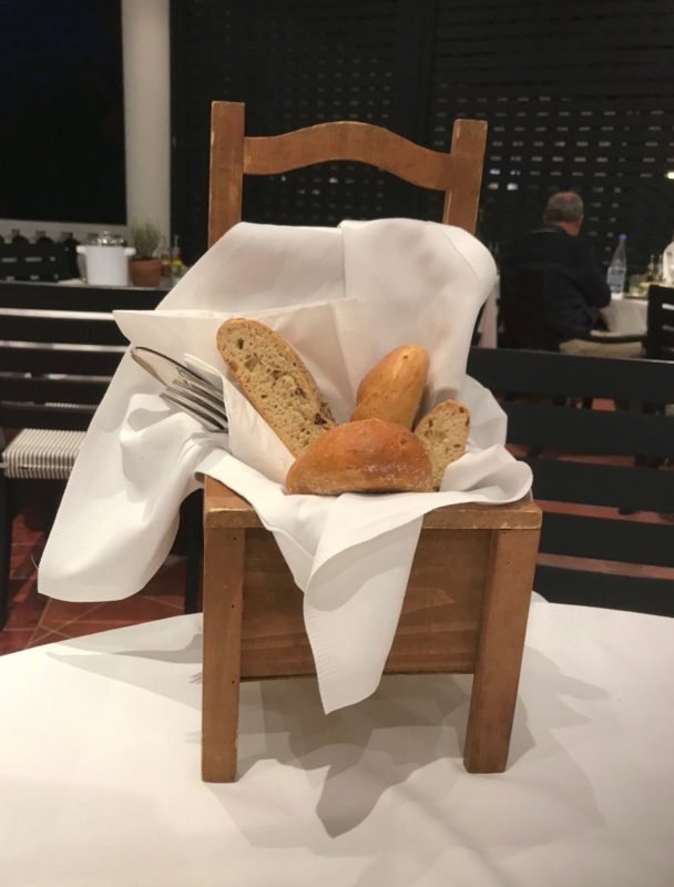 Bread in a commode